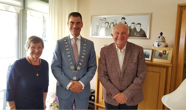 Han en Ans waren blij met het bezoek van de burgemeester