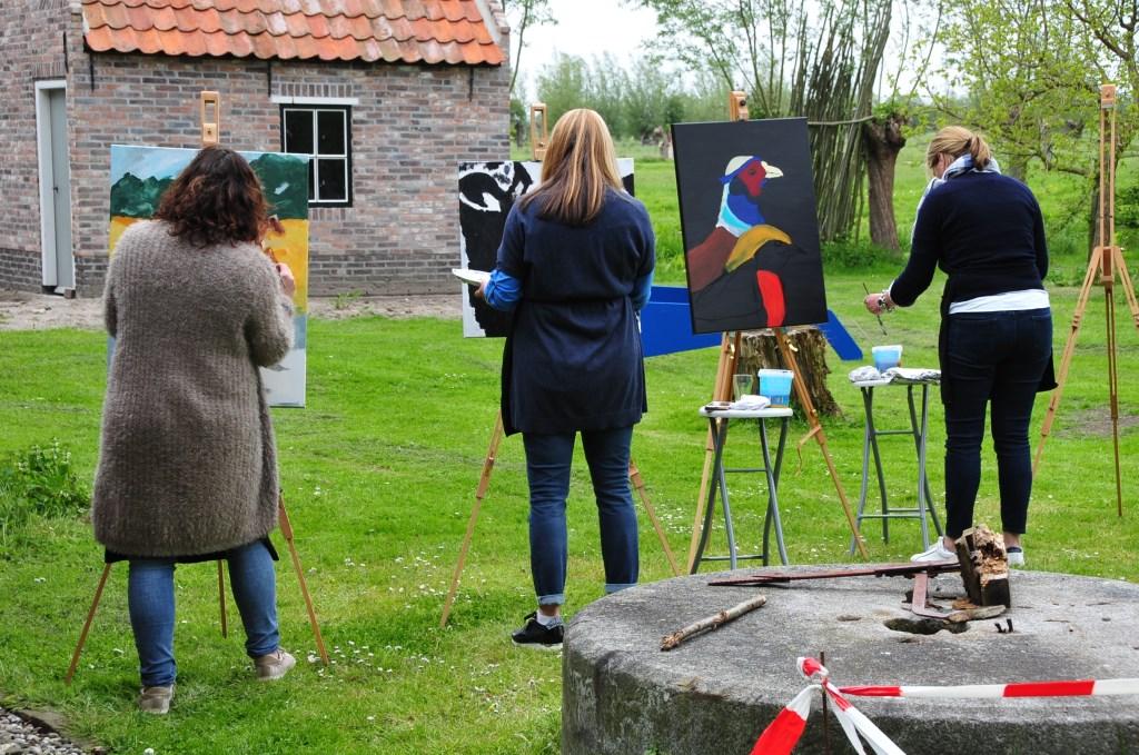 Schilders in actie