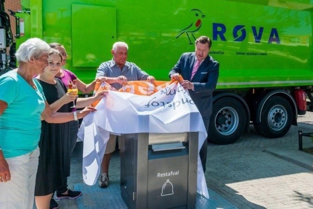 De containters voor restafval zijn al op diverse plekken in Amersfoort geplaatst. BDUmedia © BDU media