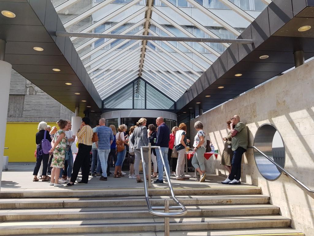 Zo'n vierhonderd mensen brachten zaterdag een bezoek. Marjanne Dijkstra © BDU media