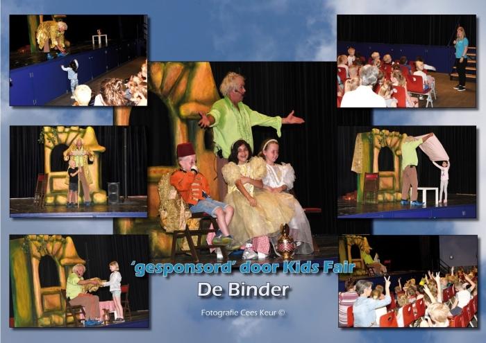 Theatervoorstelling De Prinses en de Lakei voor 300 kinderen in De Binder