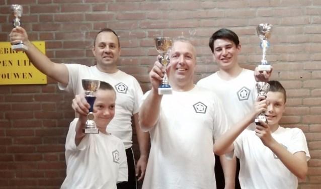 Winnaars wing-chun wedstrijden Sliedrecht