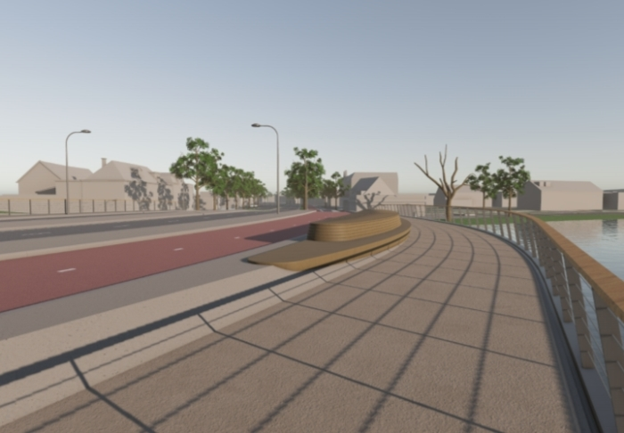 Artist Impression nieuwe brug N200 facebook © BDU media
