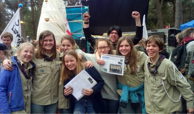 Scouts blij met 4e plaats