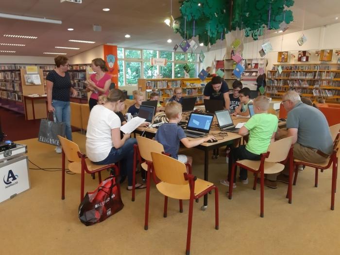 Workshop 3D printen in bibliotheek judith Keyser © BDU media