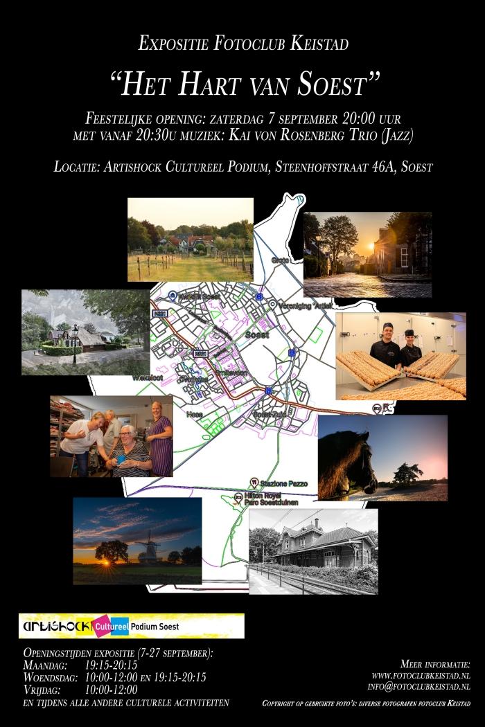 Flyer expositie Fotoclubkeistad © BDU media
