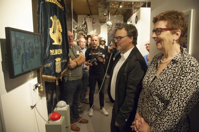 -Bertie Lemstra en Marcel Wagenveld openden zaterdag 17 augustus 2019 de expositie 'Muziek uit Nijkerk' in Museum Nijkerk.