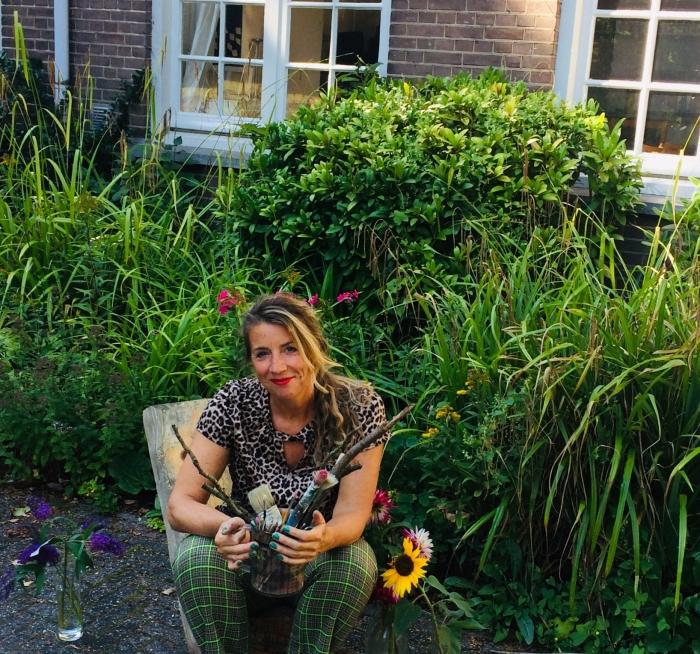 Mariska Hilhorst voor Het VlinderHuys