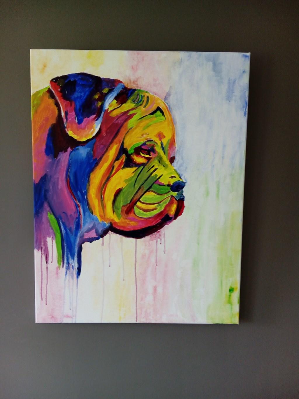 Een schilderij van Susan Roelofsen. Ina Cheddie © BDU media