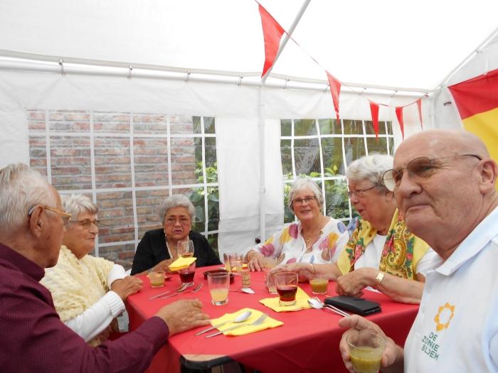 Gasten Zonnebloem Doorn genieten van tuinfeest Marjan Isken © BDU