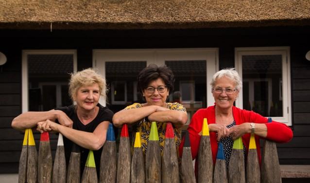 Van links naar rechts: Nell Roest, Ina Cheddie en Hennie Ansink.
