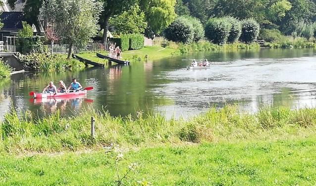 Kanovaarders op de Kromme Rijn