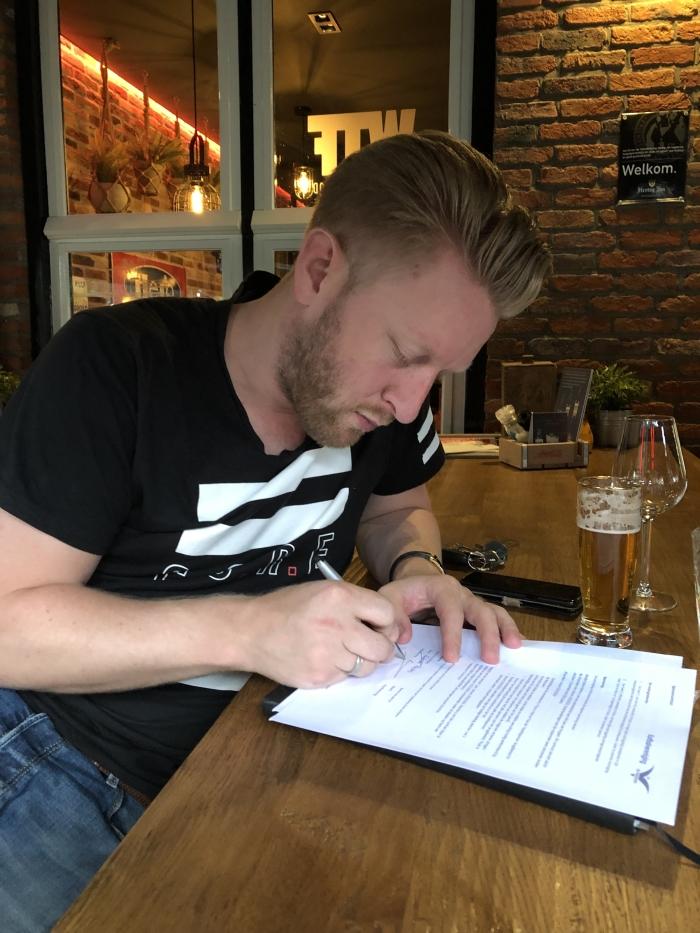 Erik van Hulsteijn voorzitter KV de Meeuwen Erwin  © BDU media