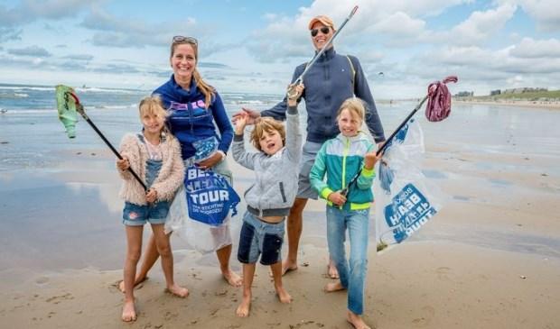 Deelnemers van de Boskalis Beach Cleanup Tour 2019.