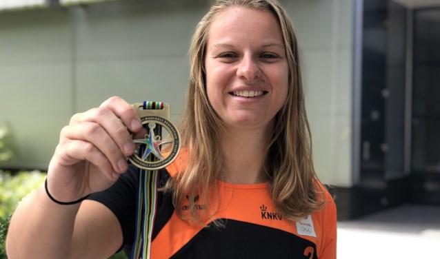 Barbara Brouwer won goud met Oranje tijdens het WK in Zuid-Afrika.