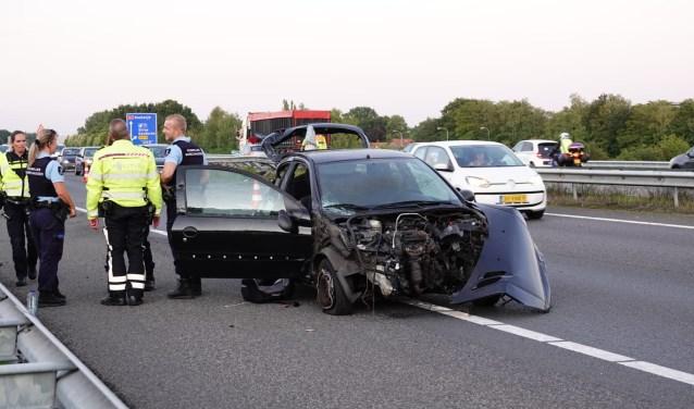 Op de A1 bij Stroe werd een kind gewond bij een ongeval.