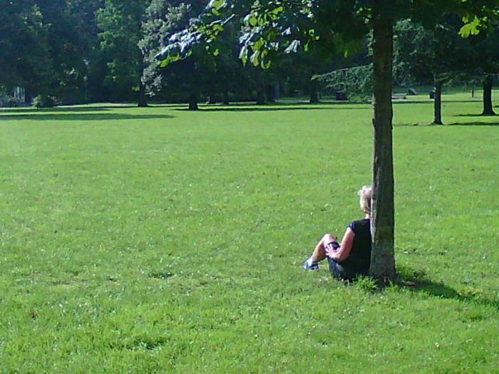 Heerlijk ontspannen en genieten van de zon.