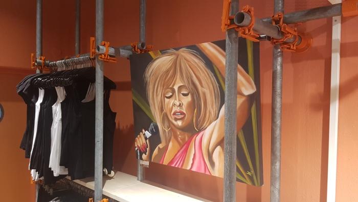 Schilderij Tina Turner bij G5