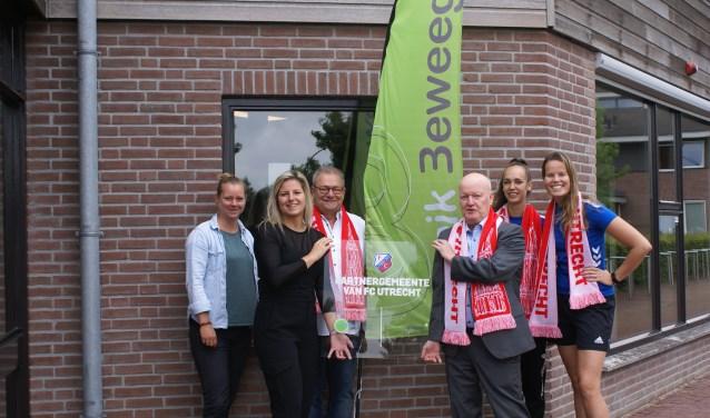 FC Utrecht, Burgemeester van Bennekom en Bunnik Beweegt met het bord van samenwerking