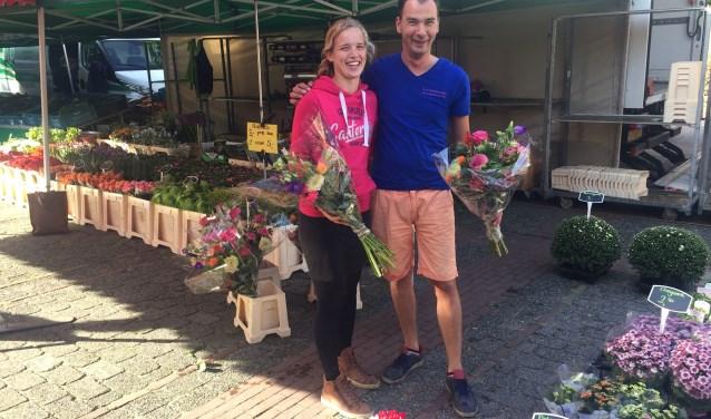 Jan en Nel van de Bunnikse bloemenkraam weer terug van vakantie