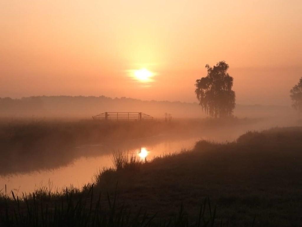 Roel van de Wetering fotografeerde het begin van een nieuwe dag nabij het Lingebos. Roel van de Wetering © BDU Media