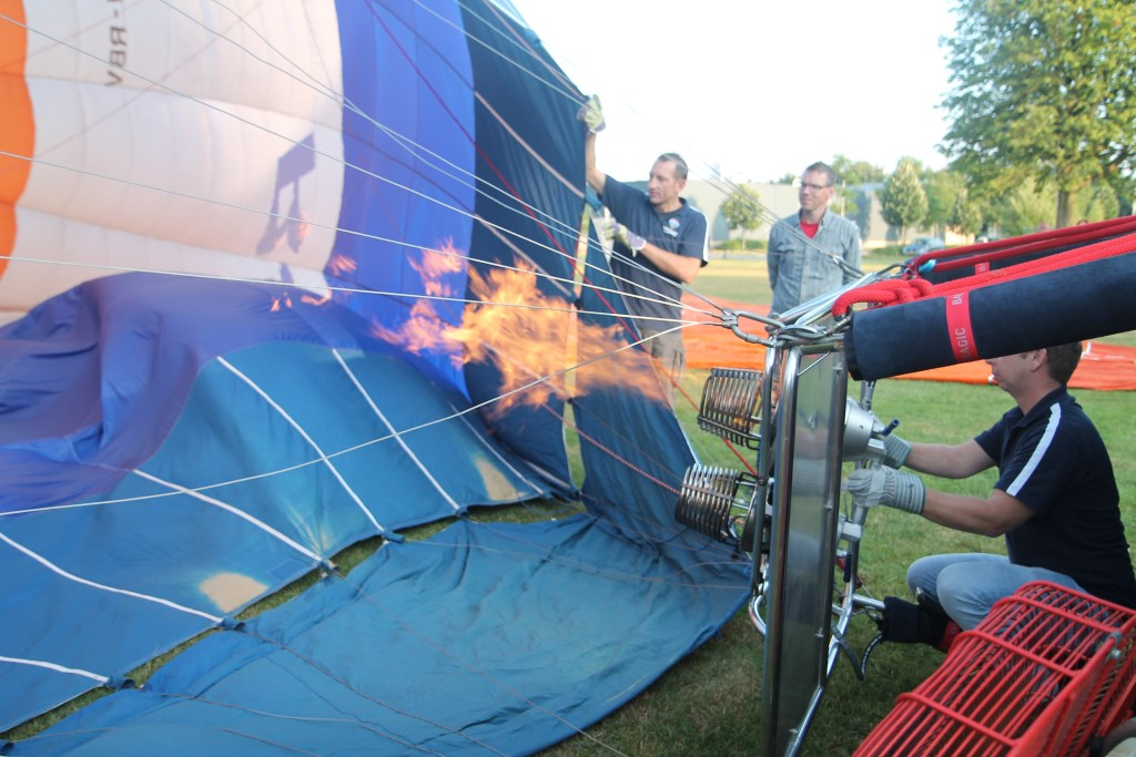 Daarna wordt de lucht verwarmd Hannie van de Veen © BDU media