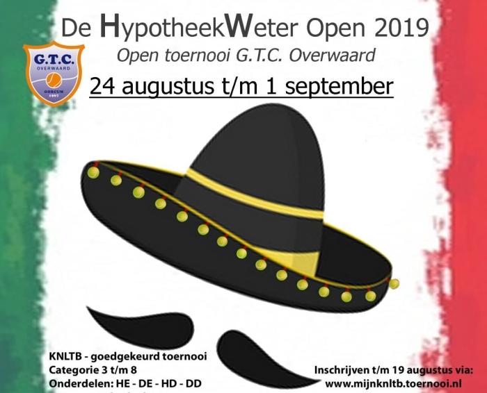 Aankondiging Open Toernooi 2019