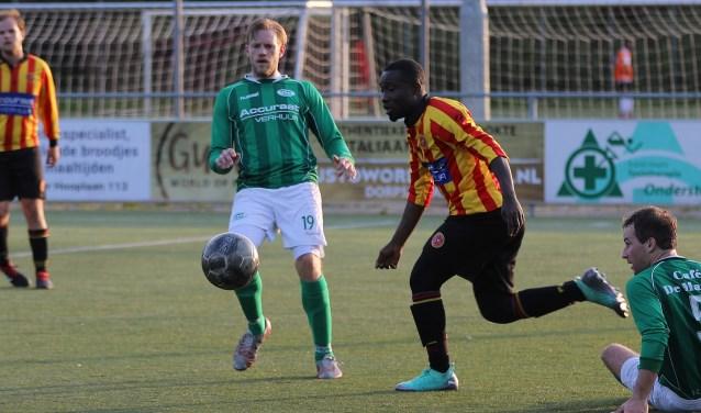 De strijd om het kampioenschap begon woensdagavond. Sporting Martinus (zaterdag) verloor toen met 2-5 van Roda'23 (zaterdag).