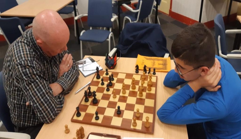 Hans Gillet (links) kwam tegen Michel Issa tot winst. Martin Markering © BDU Media