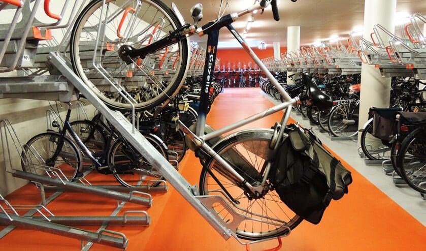 Een fietsenstalling.
