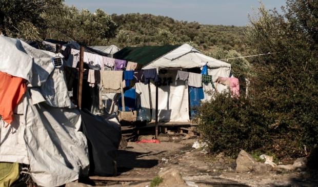 Vluchtelingenkamp Moria op het Griekse eiland Lesbos.