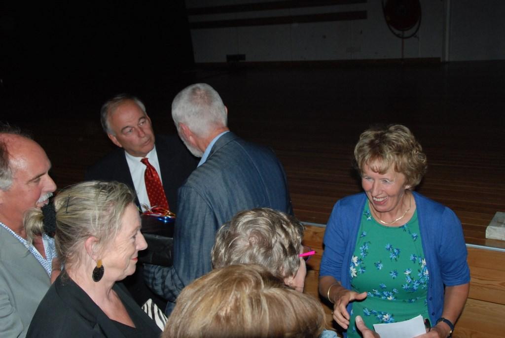Jos Dirven (links) en Pauline tijdens de receptie. Adriaan Hosang © BDU media