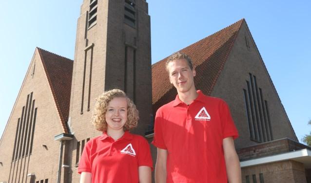 Annemarijn Hols en Bart Kalkman voor thuisbasis de Gereformeerde Kerk.