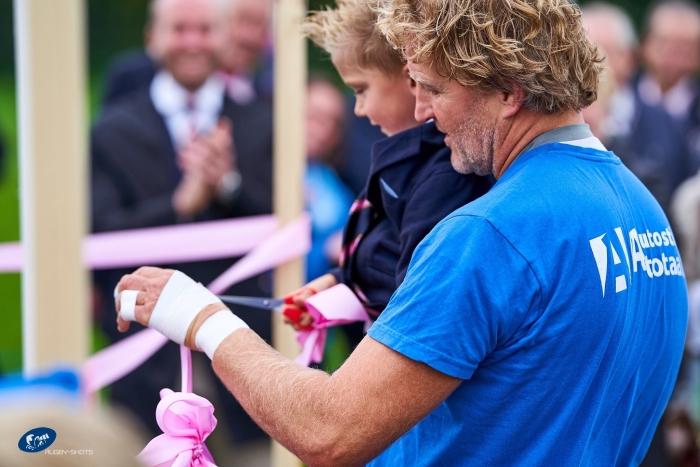Oudste en jongste spelend lid RC The Pink Panthers Rugby-shots.nl © BDU