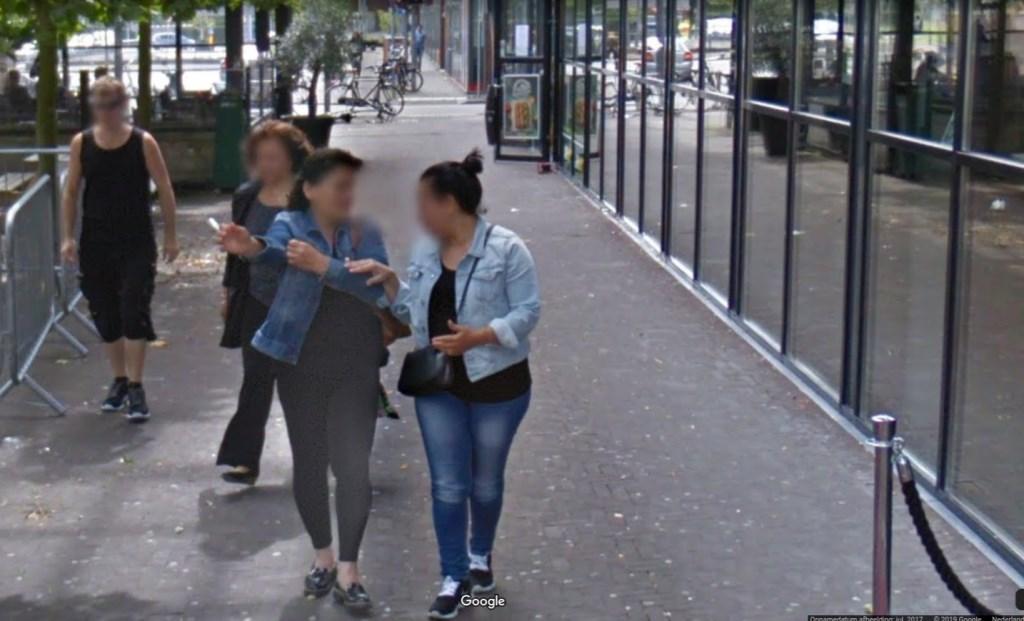 Roken over straat door het centrum. google © BDU media