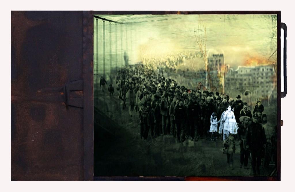 Een van de werken van de serie 'Dwars door Europa' waarmee Welmoed Reitsma uit Leersum deze zomer ook exposeerde in Museum de Fundatie in Zwolle. Edith Hazelzet © BDU