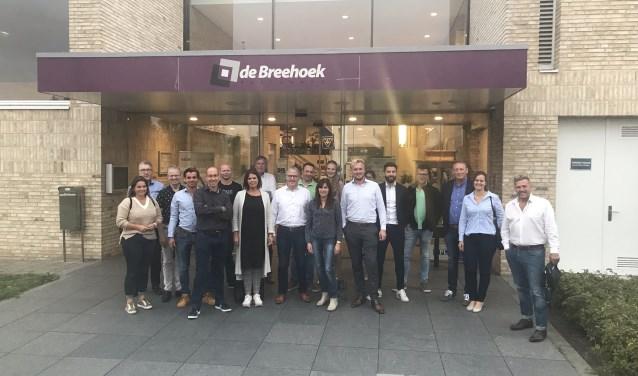 Een deel van de standhouders voor Vallei Duurzaam kwam vorige week alvast een kijkje nemen in De Breehoek.