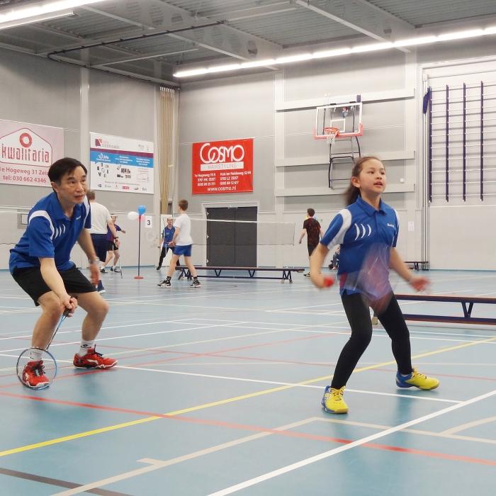 badminton bij BC 't Slot