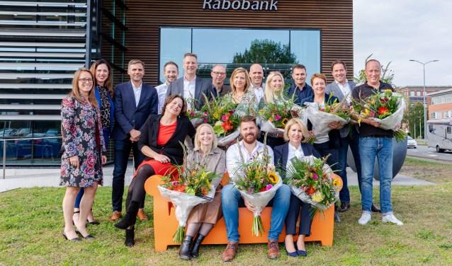 De negen genomineerden met de jury en wethouder Willemien Vreugdenhil.
