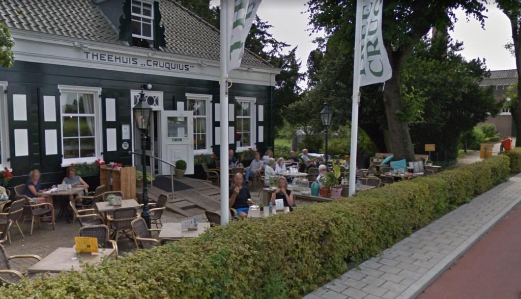 Een vol terras van theehuis Cruquius. google © BDU media