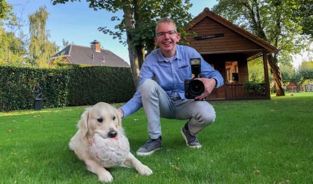 Aalt Guliker zelf op de foto met zijn huisdier.