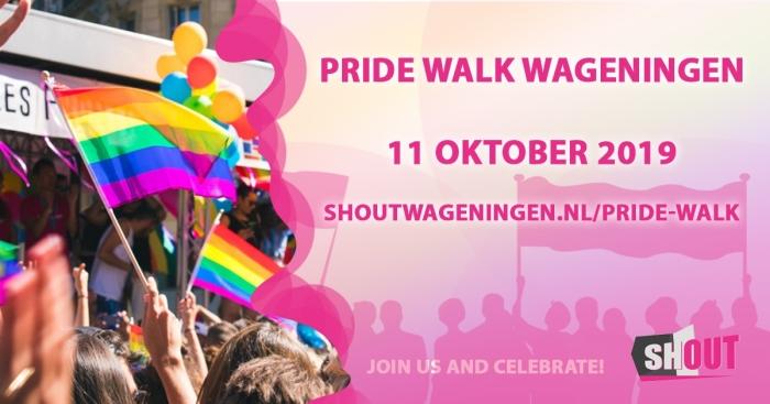 Aankondiging Pride Walk Wageningen Vincent © BDU Media