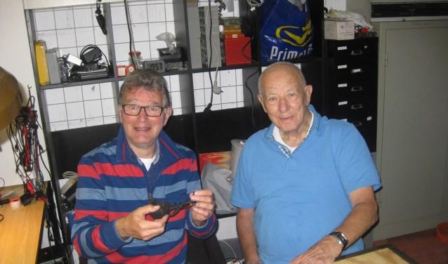 Links Rob Schalkwijk en rechts Wim Buitenhuis.