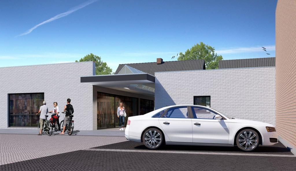 Doorgang aan de achterzijde gezien vanaf het parkeerterrein Lisman BV © BDU media