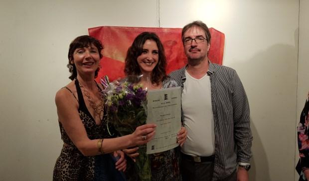 In Margareth Degeling (links), Ingrid Rosas (rechts). Foto museum M.A.C. House Leusden uit 2019