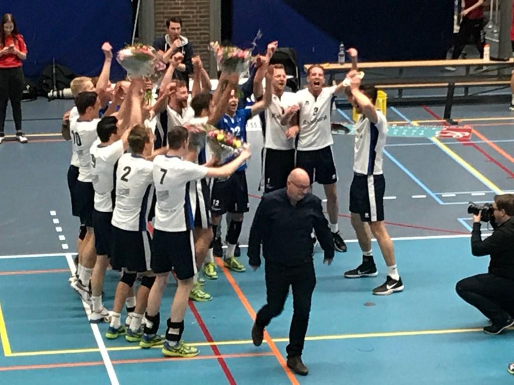De heren werden in 2018 kampioen, waardoor ze promoveerden naar de Eredivisie Rick van de Weg © BDU Media