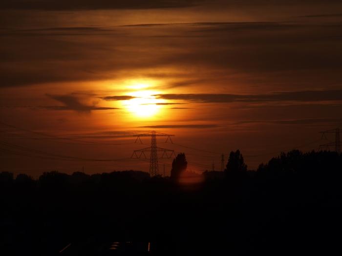 Zonsondergang bezien vanuit Sliedrecht