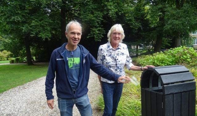 Florian Koopmans en Marja van Eck zijn bewuste en actieve afvalrapers.