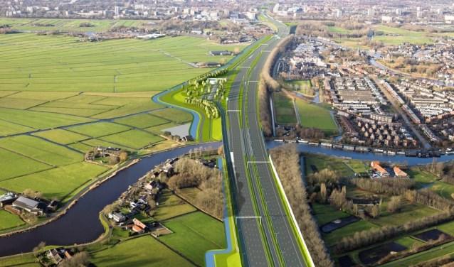 De plannen voor het tankstation langs de A9.