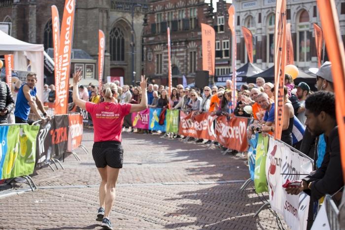 Finish op de Grote Markt in Haarlem